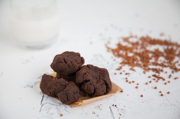 Homemade buckwheat flour cookies