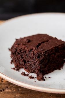 Homemade cake made of chocolate