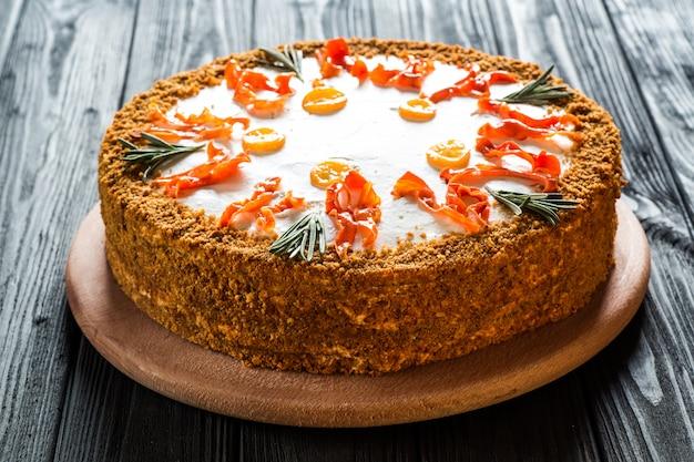 自家製キャロットケーキ。
