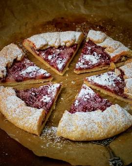 Homemade cherry berry galette