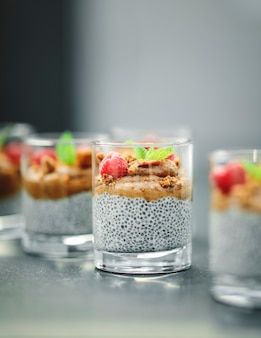 Homemade chia pudding vegan recipe
