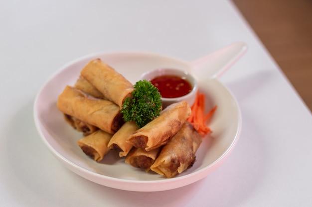 Homemade chinese vegetable egg rolls