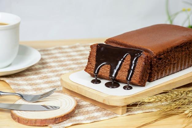 Homemade chocolate cake