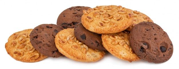 自家製チョコレートチップクッキーと白のピーナッツのクッキー