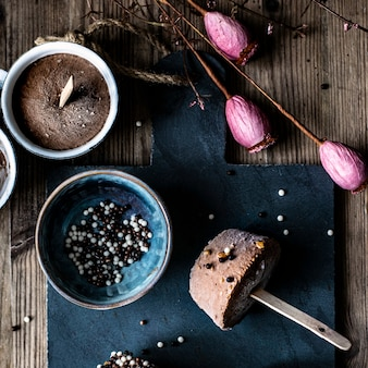 Homemade chocolate peanut butter ice cream cups recipe