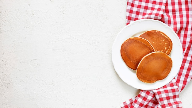 Homemade classic american pancakes