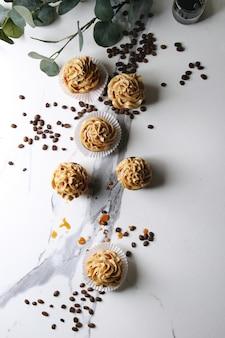 Homemade coffee cupcakes