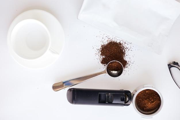 수제 커피 준비