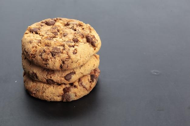 Homemade cookies on black
