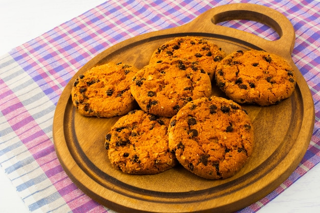 Homemade cookies on the cutting board