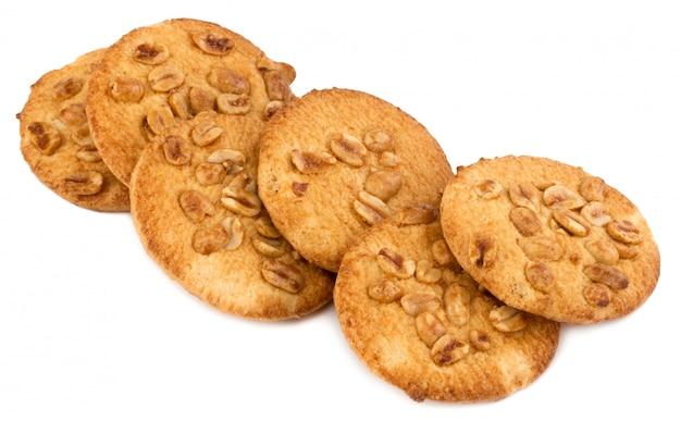白のピーナッツと自家製クッキー