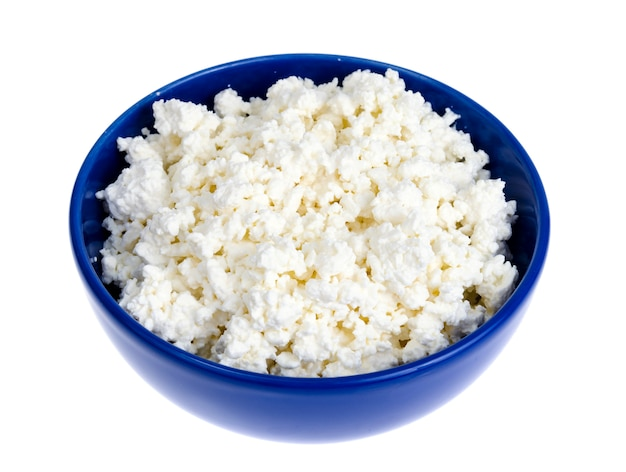 Homemade cottage cheese, dairy products