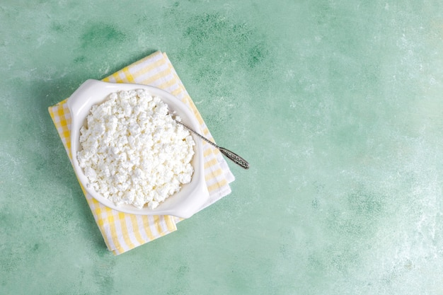 自家製カッテージチーズ。