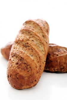Homemade crunchy bread with grains
