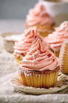 Homemade cupcake with buttercream