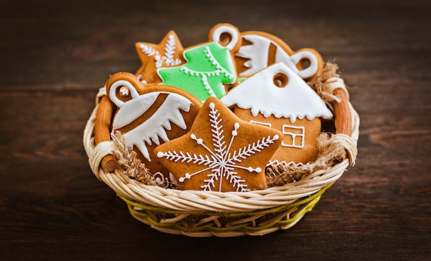 Homemade delicious christmas gingerbread cookies