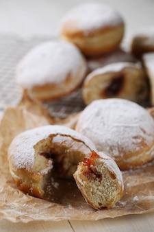 Homemade delicious doughnuts for dessert