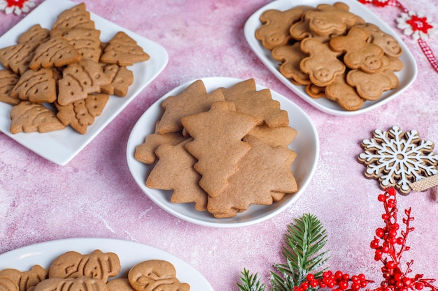 집에서 만든 맛있는 진저 쿠키.