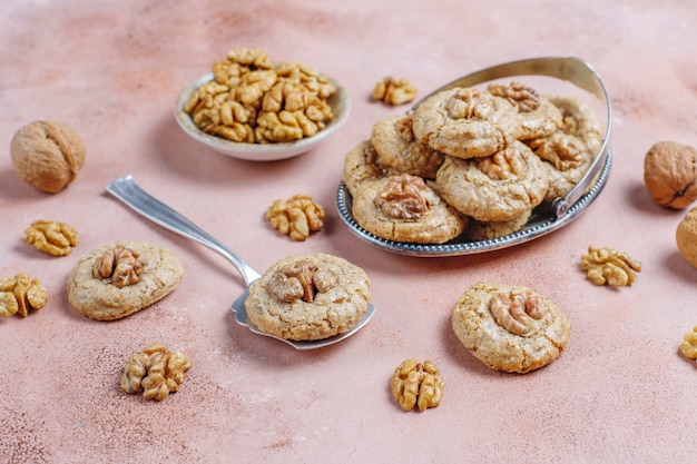 Homemade delicious walnut cookies.