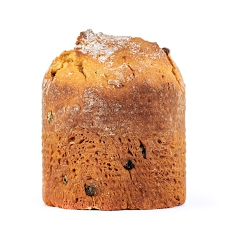 自家製イースターケーキ、白で隔離のパスカ、食べ物