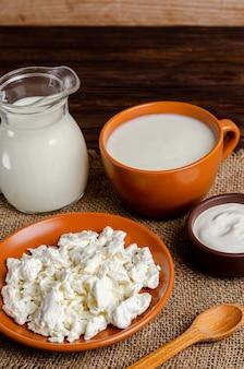自家製発酵乳製品ケフィア、カッテージチーズ、サワークリーム