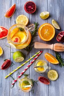 Homemade fresh lemonade