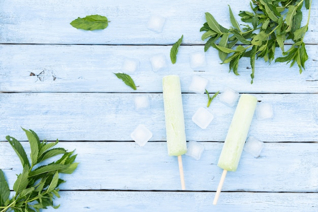 自家製冷凍モヒートアイス