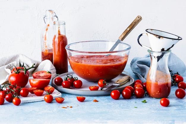 自家製ガスパチョトマトスープフードフォト