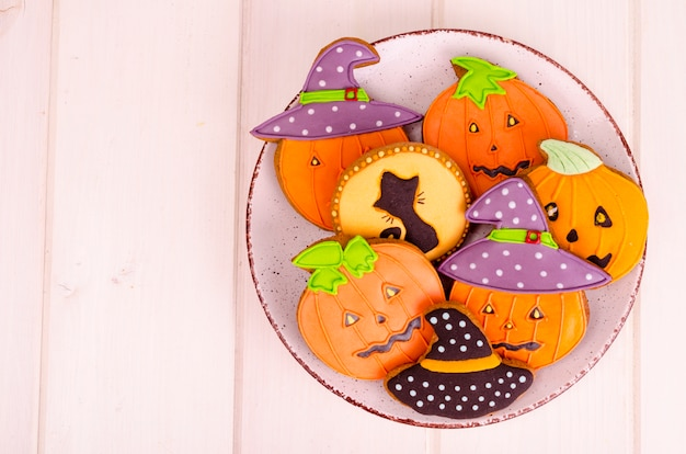 Homemade gingerbread with pictures for halloween