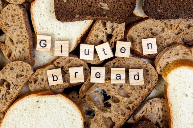 Homemade gluten free bread for people with allergy