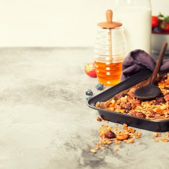 Домашний завтрак мюсли