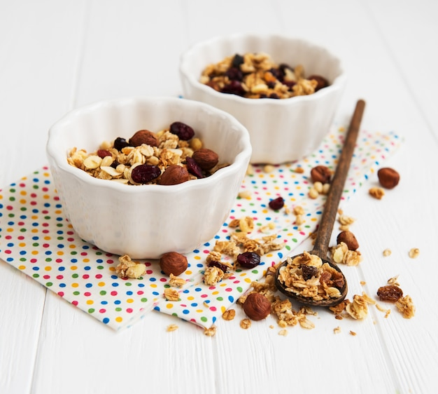 Homemade granola on a table