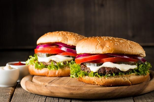 Homemade hamburger