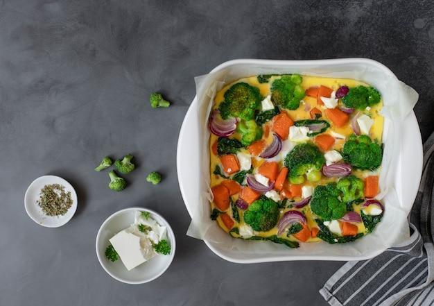 Homemade healthy omelette