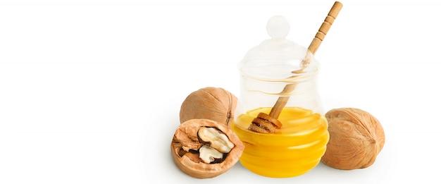 Homemade honey with walnuts