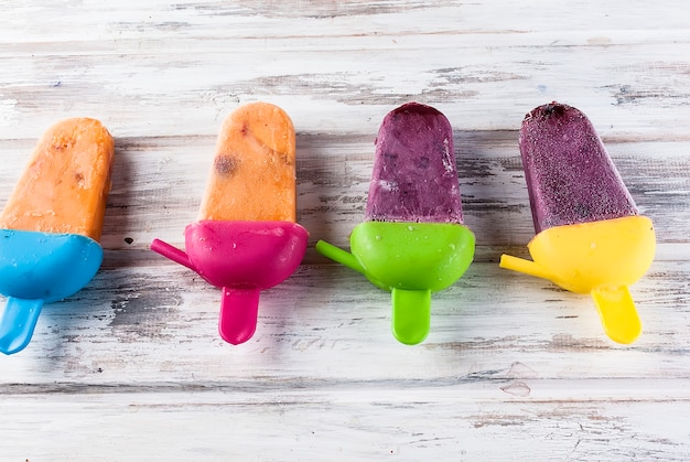 Homemade ice-cream from seasonal berries