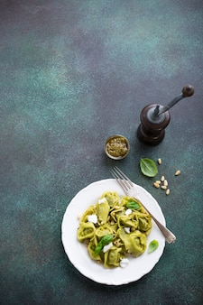 Homemade italian tortelloni
