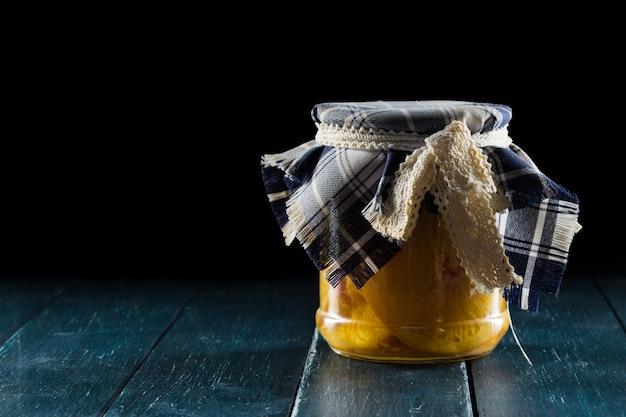 Homemade jars of fruits