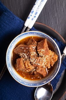 Homemade korean beef stew in oriental style