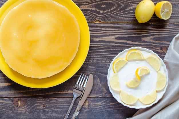 自家製レモンチーズケーキ