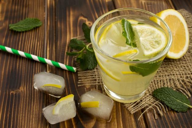 レモンとミントの自家製レモネード