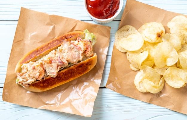 Homemade lobster roll