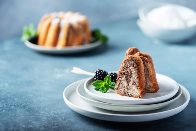 Домашний мраморный торт
