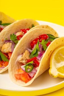 Homemade mexican tacos