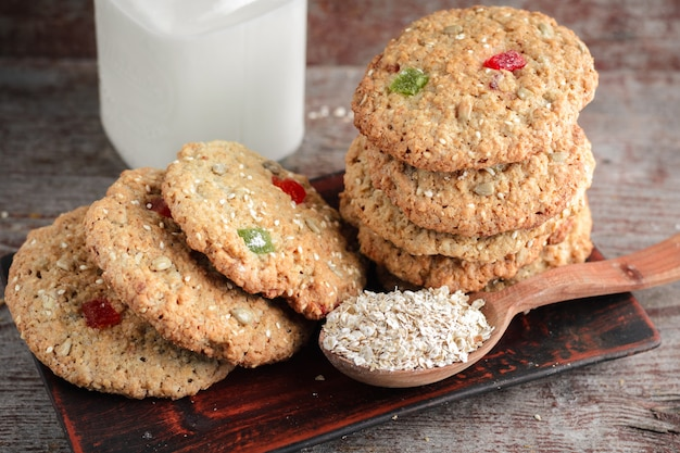 Homemade oatmeal cookies