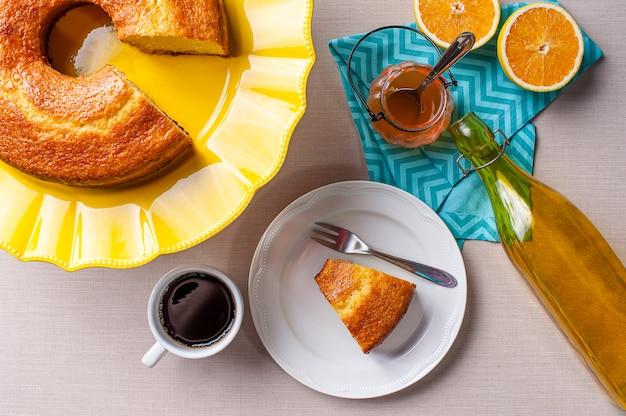 自家製オレンジケーキと一杯のコーヒー