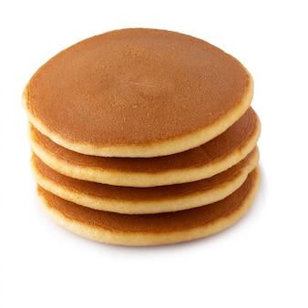 Homemade pancakes isolated