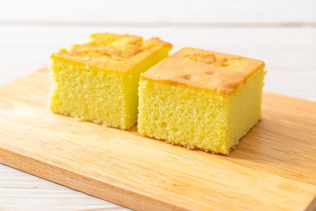 Homemade pandan cake