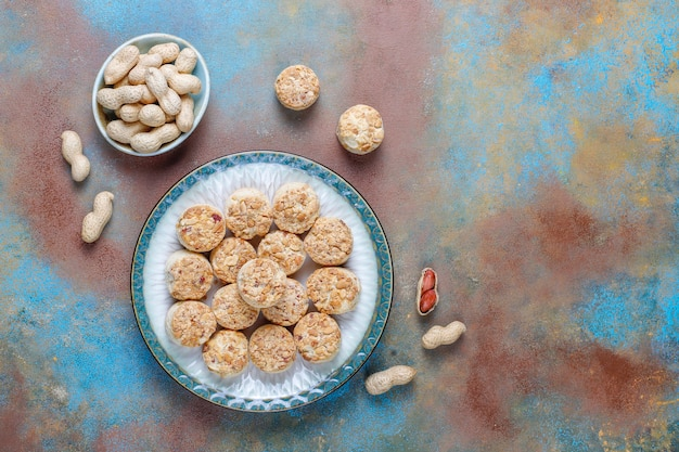 Homemade peanut cookies.