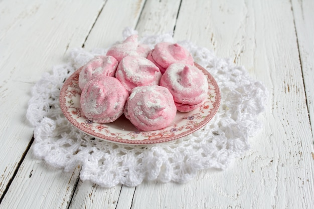 Homemade pink marshmallows currant  zephyr